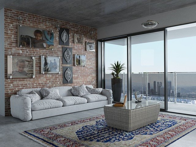 A living room filled with furniture
